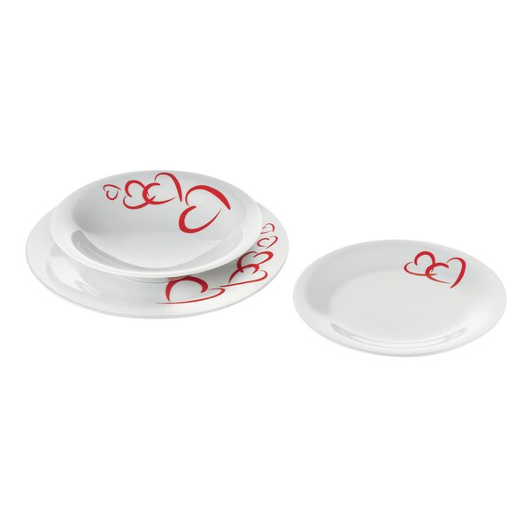 Love 6 Piece Dinnerware Set, Service for 2 by Guzzini