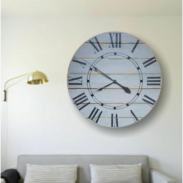 Oversized Hufnagel Farmhouse Wall Clock by Highland Dunes