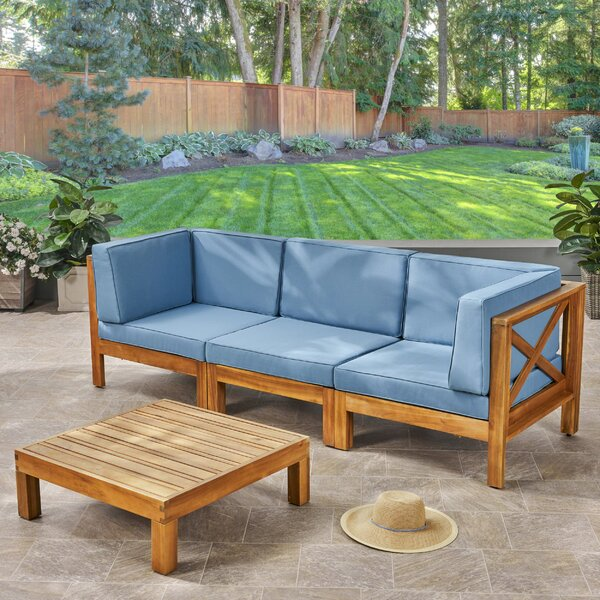 Ellison 4 Piece Sofa Seating Group with Cushions by Highland Dunes Highland Dunes