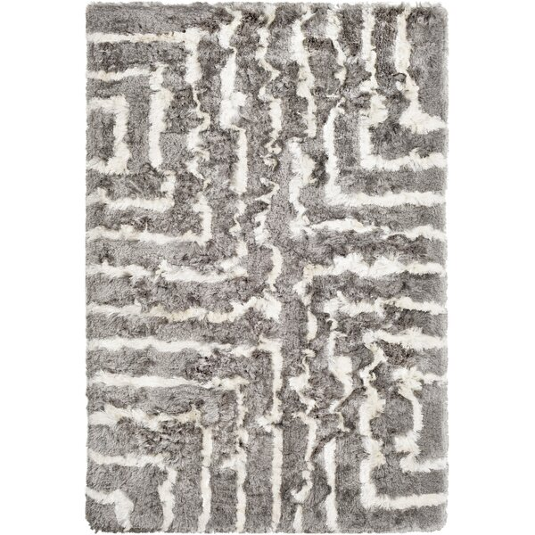 Witherell Hand-Tufted Gray/Cream Area Rug by Mercer41