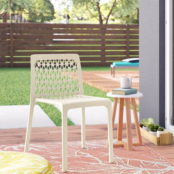 Landgraf Stacking Patio Dining Chair (Set of 2) by