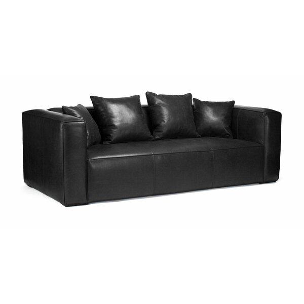Linkwood Leather Sofa By Orren Ellis