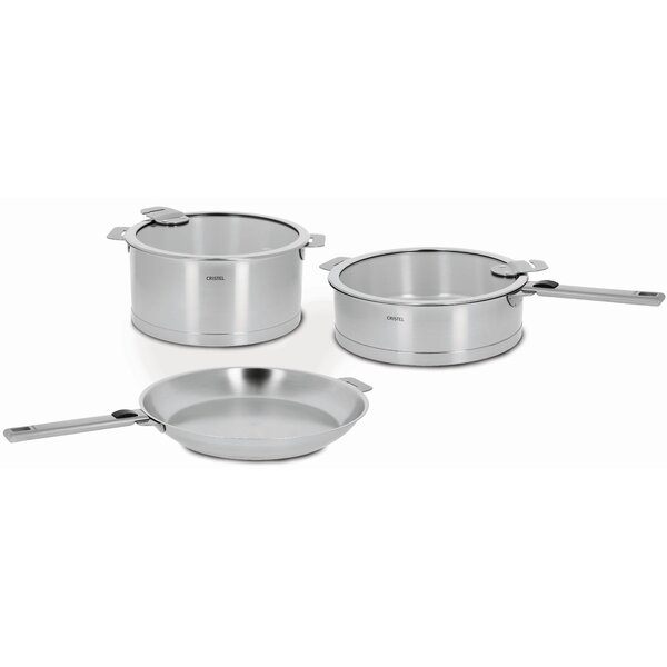 Strate 7-piece Stainless Steel Cookware Set by Cristel