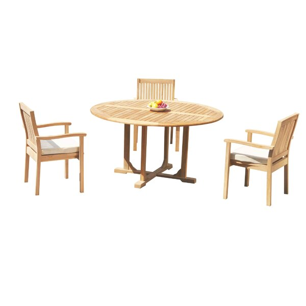 Maston 4 Piece Teak Dining Set by Rosecliff Heights