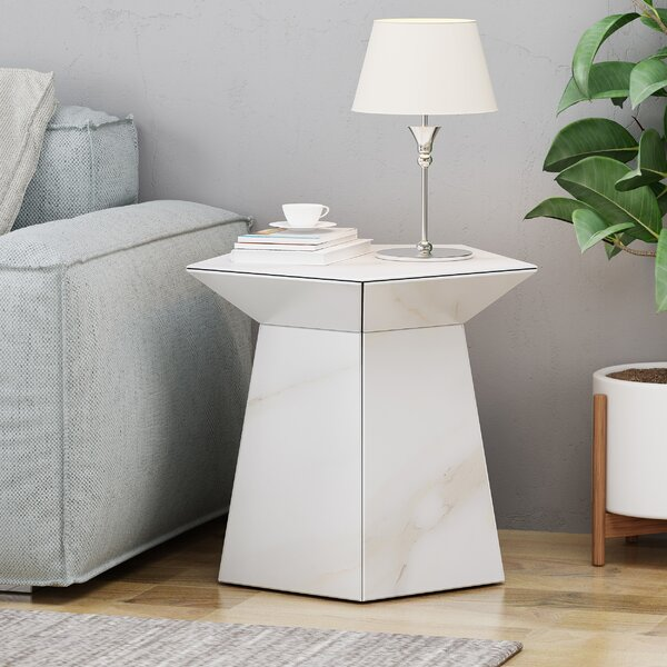 Plympt Pentagon End Table by Orren Ellis Orren Ellis
