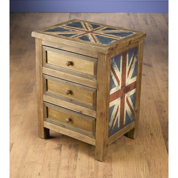 Kinzie 3 Drawer Chest by World Menagerie