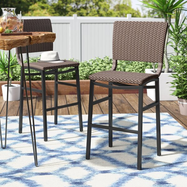 Katzer 30 Patio Bar Stool (Set of 2) by Brayden Studio| @ $289.99