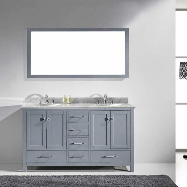 Serigne 59 Double Bathroom Vanity Set with Mirror by Willa Arlo Interiors
