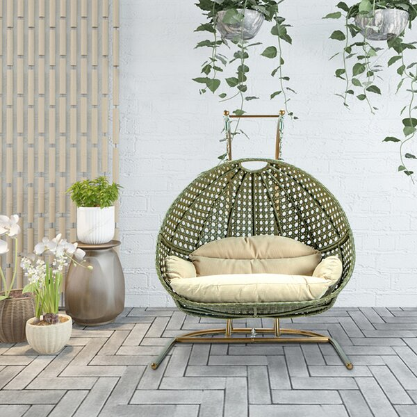 Mccoppin Double Swing Chair with Stand by Bayou Breeze