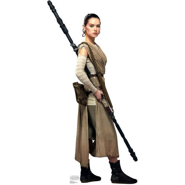 Star Wars Episode VII: The Force Awakens Rey Cardboard Cutout by Advanced Graphics