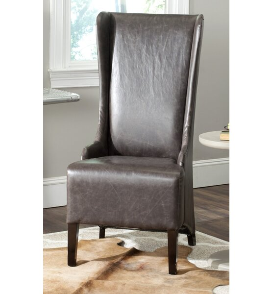 Bacall Upholstered Side Chair in Antique Brown by Alcott Hill Alcott Hill