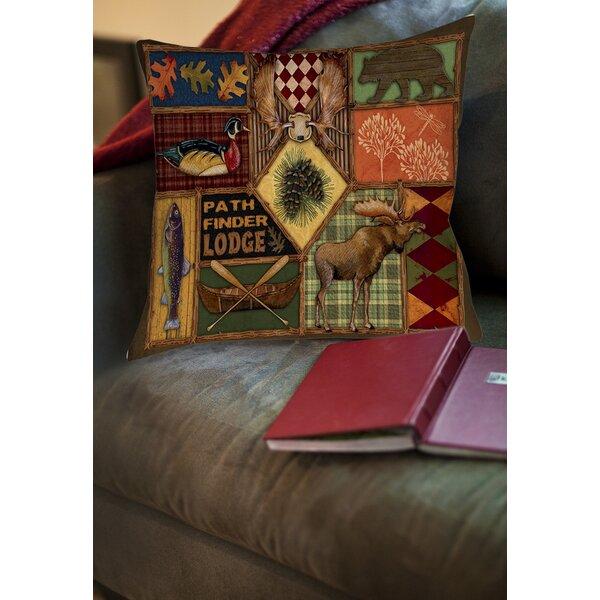 Adamski Printed Throw Pillow by Loon Peak
