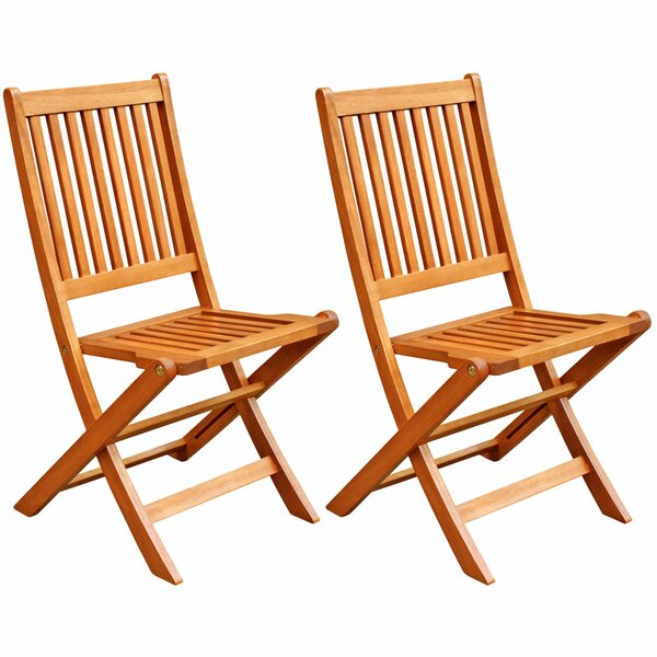 Cadsden Patio Folding Chair (Set of 2) by Three Posts