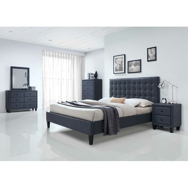 Queen Standard Configurable Bedroom Set By HomeRoots by HomeRoots Cheap
