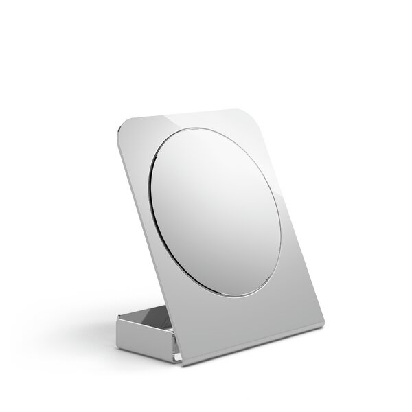 Mevedo Magnifying Table with Container Accent Mirror by WS Bath Collections