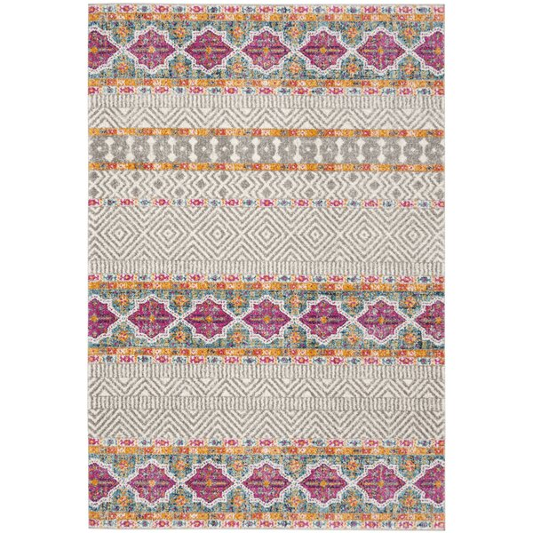 Grieve Gray/Ivory Area Rug by Bungalow Rose