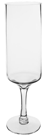 Contemporary Stemmed Glass Hurricane (Set of 6) by CYS-Excel