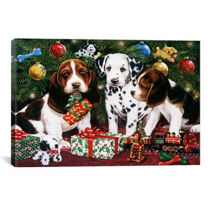 Christmas Puppies 2 Graphic Art by The Holiday Aisle