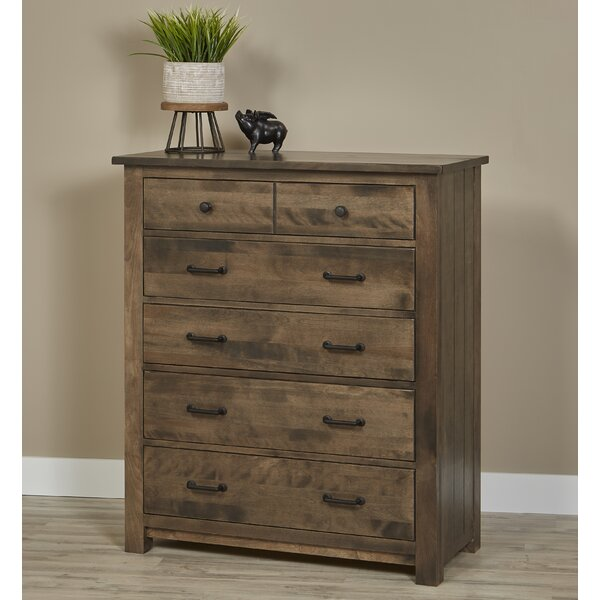 Lipford Bench Built 5 Drawer Chest by Millwood Pines