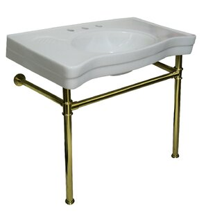 Purchase Ceramic 36 Console Bathroom Sink with Overflow By Kingston Brass