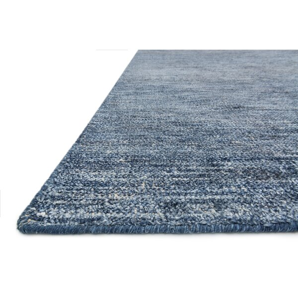 Jeffress Knotted Blue Area Rug by Red Barrel Studio