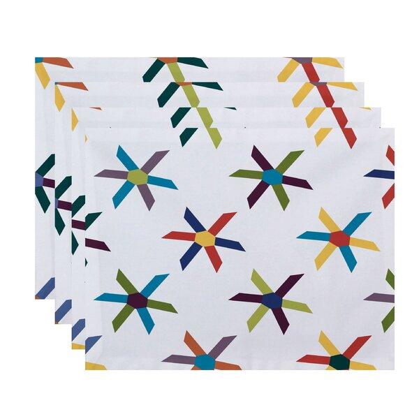 Boubacar Pinwheel Pop Geometric Placemat (Set of 4) by Highland Dunes