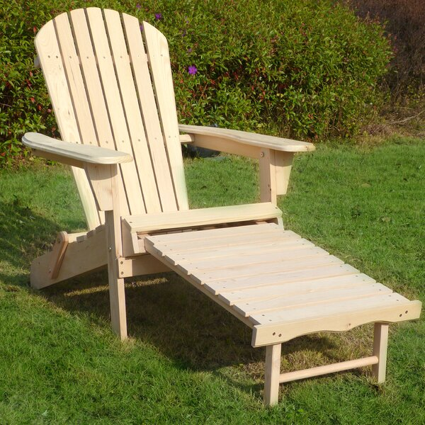Eccles Wood Adirondack Chair with Ottoman by Highland Dunes Highland Dunes