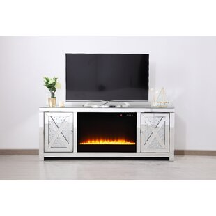 Abeer TV Stand for TV up to 50 with Fireplace