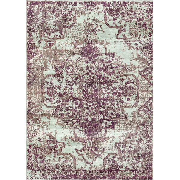 Aliza Handloom Purple Area Rug by Bungalow Rose