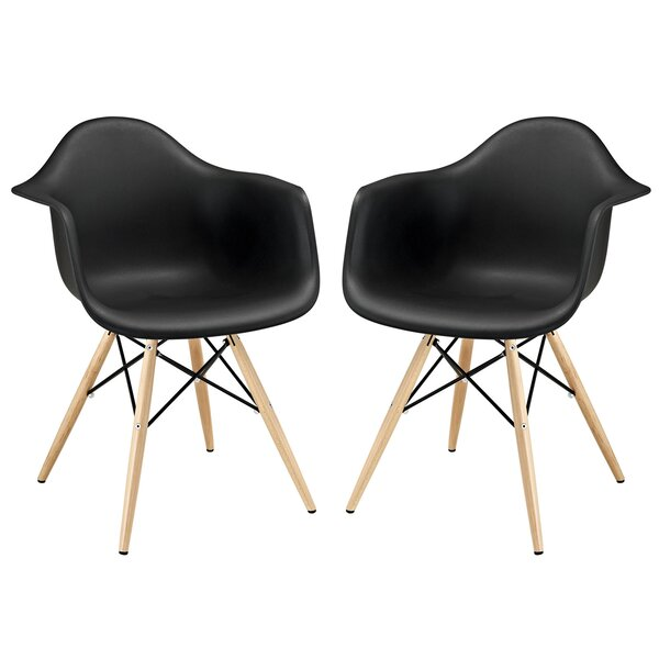 Conyers Plastic Side Chair (Set of 2) by Hashtag Home Hashtag Home