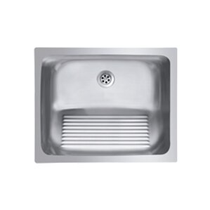 Single Basin Stainless Steel Laundry Sink With Washboard