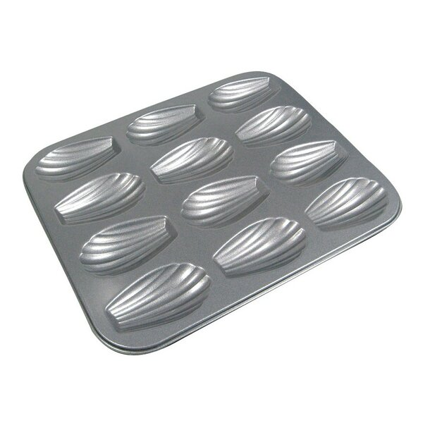 La Patisserie 12 Cup Non-Stick Madeleine Muffin Pan (Set of 2) by MyCuisina