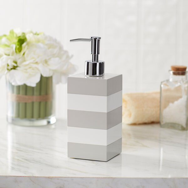 Imogen Striped Lacquer Lotion Dispenser by Birch Lane™