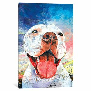 'Pitbull' Painting Print on Canvas by East Urban Home