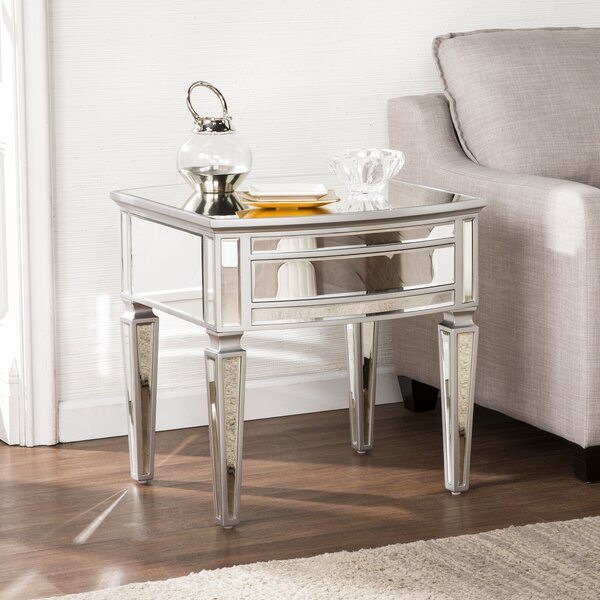 Elosie Mirrored End Table By House Of Hampton