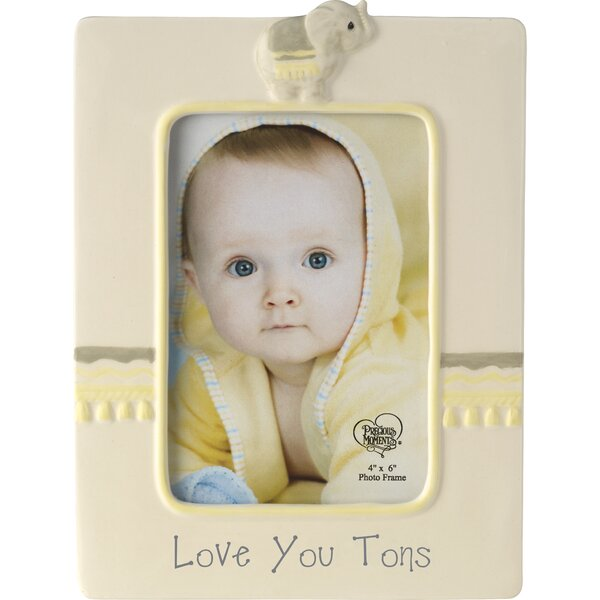 Love You Tons Ceramic Elephant Picture Frame by Precious Moments