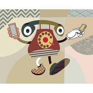 Retro Telecom II by Lanre Adefioye Graphic Art on Canvas by Printfinders