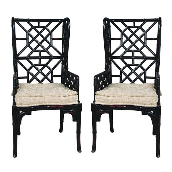 Waddell Wing Back Arm Chair (Set of 2) by Bay Isle Home