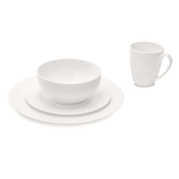Emmy 32 Piece Bone China Dinnerware Set, Service for 8 by Latitude Run