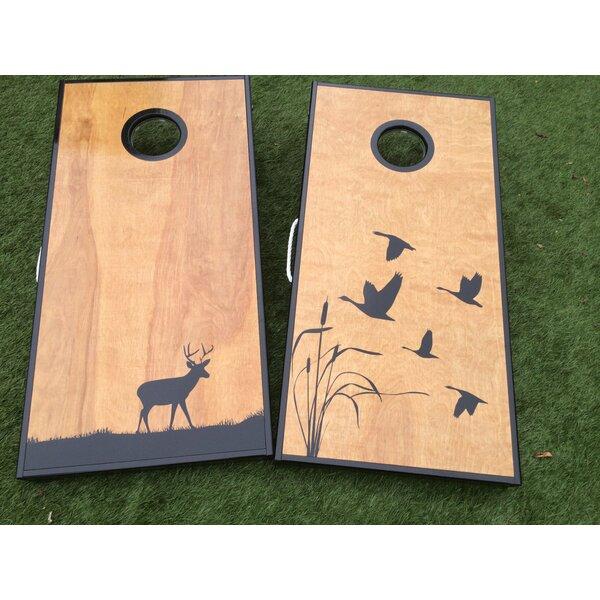 Deer and Ducks Cornhole Board with Toss Bags Set by West Georgia Cornhole