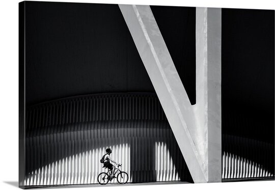 The Biker by Gerard Jonkman Photographic Print on Canvas by Canvas On Demand