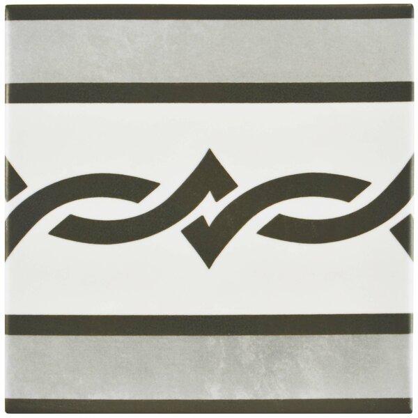 Haute 5.88 x 5.88 Ceramic Field Tile in Gray/White by EliteTile