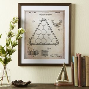 Billiards Framed Blueprint by Birch Lane™