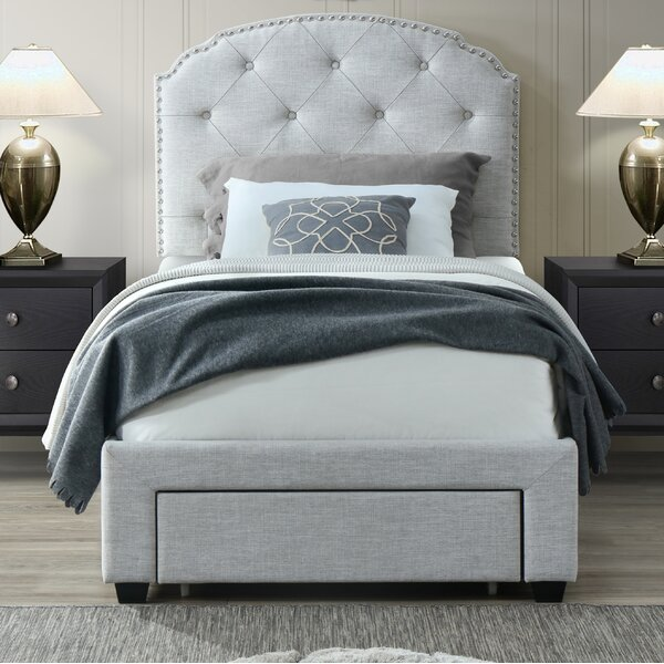 Abbingt Twin Upholstered Storage Standard Bed by Grovelane Teen