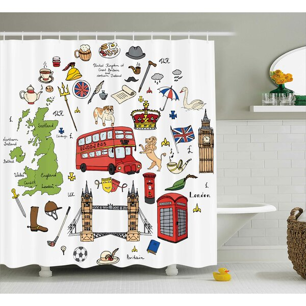 Marilyn Sketchy Famous Tourist Shower Curtain by Zoomie Kids