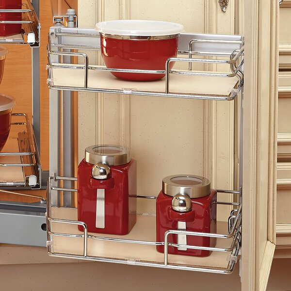 Two-Tier Blind Corner Organizer (Left) by Rev-A-Shelf