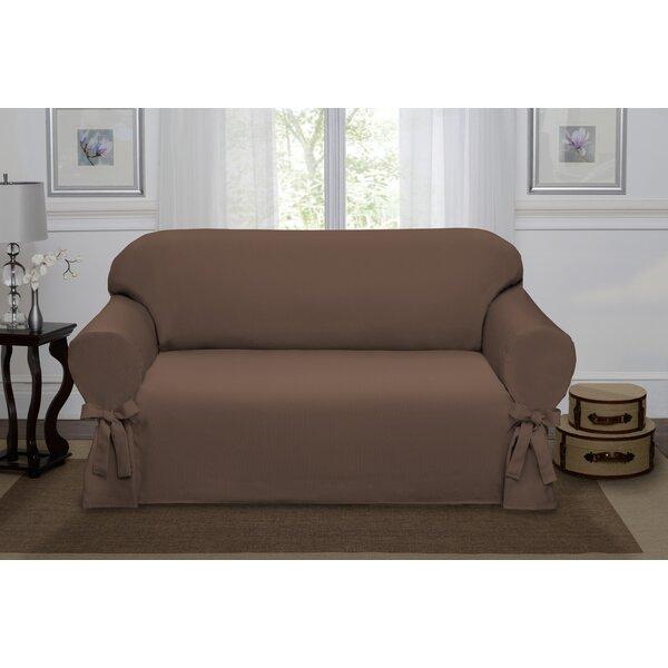 Lucerne Box Cushion Loveseat Slipcover By Rosalind Wheeler