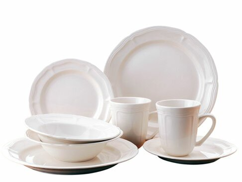 Bianca 16 Piece Dinnerware Set, Service for 4 by Thomson Pottery