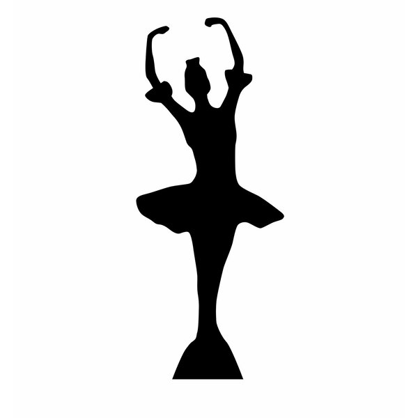 Ballerina Silhouette Cardboard Stand-Up by Advanced Graphics