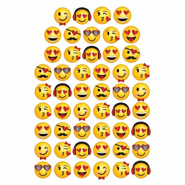 Valentine's Day Emoji Cutouts Super Value Pack by Amscan